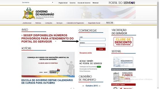 Portal do Servidor MA - Contracheque