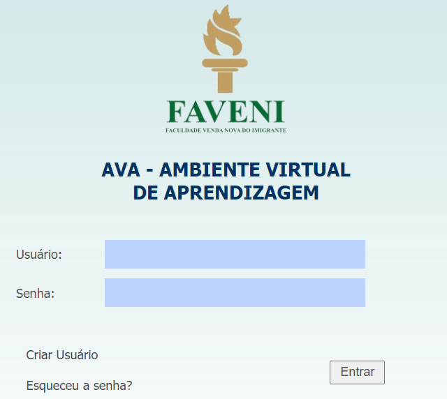 Portal do aluno Faveni AVA